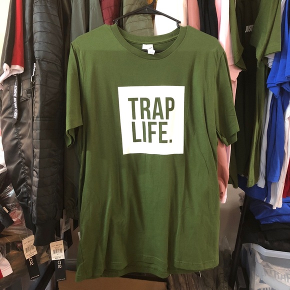 Other - Trap Life Tee - Olive